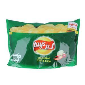ليز شرائح البطاطس شطة وليمون 160 جرام