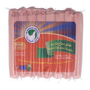 دواجن الوطنية نقانق دجاج طازجة جبنة 350 جرام
